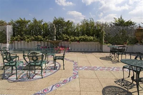 large terrace on Elegance Duplex Apartment Design in London