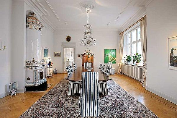 luxurious Swedish dinning room Design in Stockholm