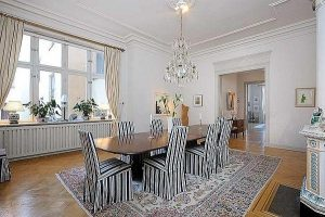 luxurious and cozy residence Design with Classical Swedish Style in Stockholm
