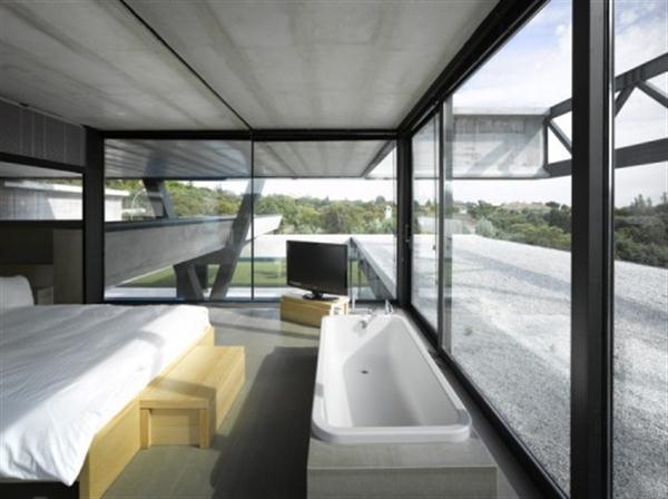 luxurious bedroom design on Hemeroscopium House from Ensamble Studio