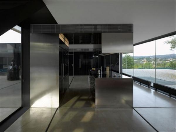 modern kitchen design on Hemeroscopium House by Ensamble Studio