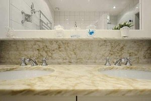 simply and Elegance bathroom Design in Classical Swedish apartment in Stockholm