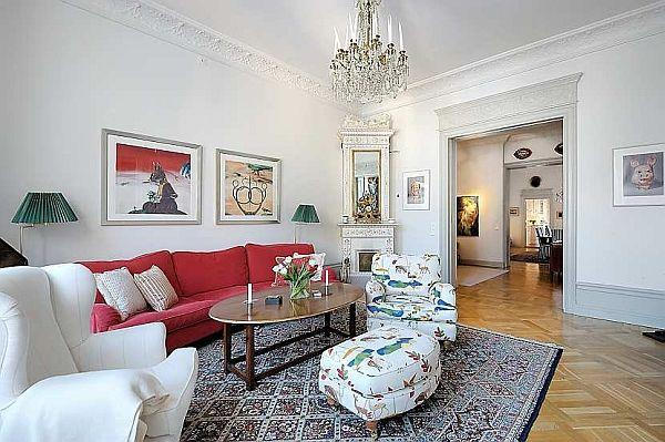 wonderful Apartment Design with traditional Swedish Style in Stockholm