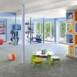 Colorful Home Gym Design Ideas
