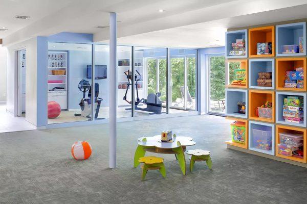 9 Colorful Home Gym Design Ideas