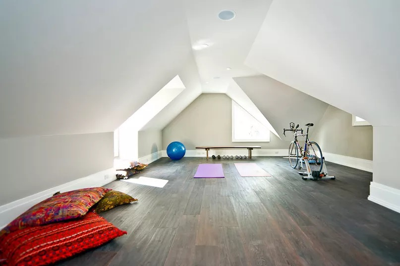 Minimalist Colorful home gym design ideas